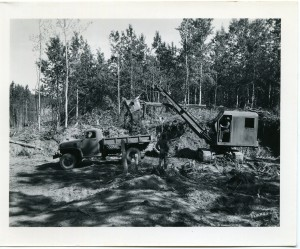 Building the Alaska Highway in 1942. Courtesy of the Fort St. John North Peace Museum