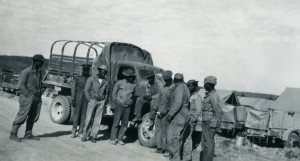 African American Soldiers along the highway.  Courtesy of the Fort St. John North Peace Museum