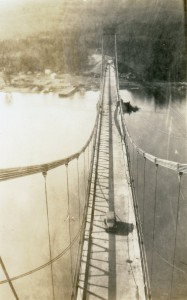 The Peace River Bridge at Taylor. Courtesy of the Fort St. John North Peace Museum