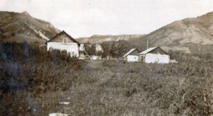 Old Fort St. John (1873-1923) as it appeared in 1931, eight years after its closure. Courtesy of the Fort St. John North Peace Museum
