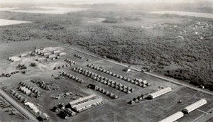 Camp Alcan by Fort St. John in 1942. Courtesy of the Fort St. John North Peace Museum