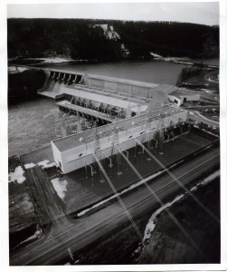 Peace Canyon Dam. Courtesy of the Fort St. John North Peace Museum