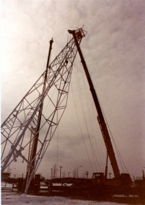 Oil derrick is installed at the Fort St. John North Peace Museum. Courtesy of the Fort St. John North Peace Museum