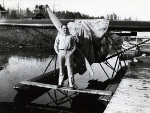 Pilot Grant McConachie at Charlie Lake - Courtesy of the Fort St. John North Peace Museum