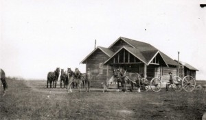 Alwin Holland's homestead where the first school was located. Courtesy of the Fort St. John North Peace Museum