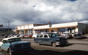 Town of Fort St. John in 1960. Courtesy of the Fort St. John North Peace Museum